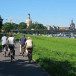 Cycling Prague - Dresden, thanks to Fam.  Van den Bon