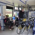 In Tsjechië kunnen fietsen vaak op de trein meegenomen worden.