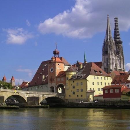 Praag - Regensburg fietsroute - stad Regensburg