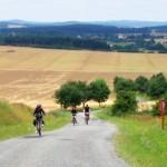 De Greenways fietsroute is behoorlijk pittig. Hij gaat hoofdzakelijk door een glooiend landschap.