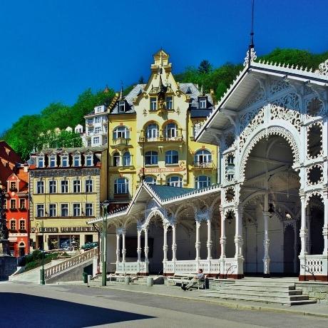 Karslbad, Karlovy Vary, fietsvakantie Bohemen, fietsvakantie Tsjechië