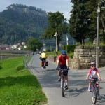 Cycling with children from Prague to Dresden, Elberoute