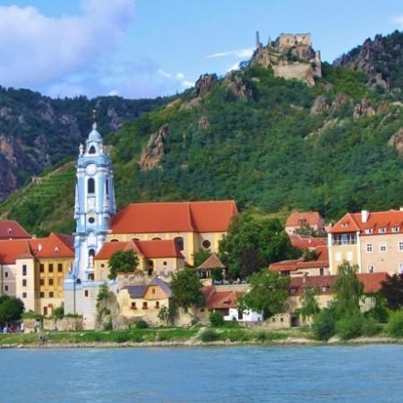 Dürnstein aan de Donaufietsroute