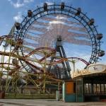 Fietsen met kinderen langs de Donau - Reuzenrad in Wiener Prater