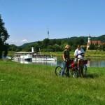 Elberoute van Dresden naar Wittenberg en dan langs de R1 naar Berlijn