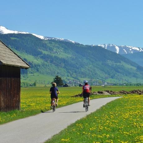 Fietsen in de Alpen langs de Mur