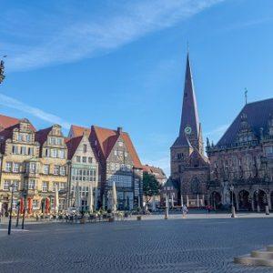 Altstadt Bremen - Fietsen langs de Weser