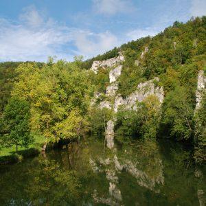 Donaudurchbruch Beuron - fietsen Duitse Donau vanaf bron