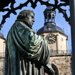 Monument Luther in Lutherstadt Wittenberg