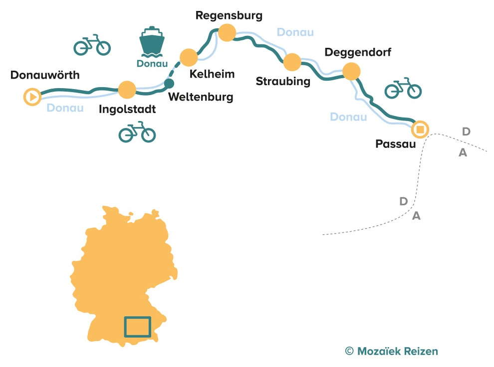 FietsrouteDuitse Donau - Donauradweg (Donauwörth - Passau)