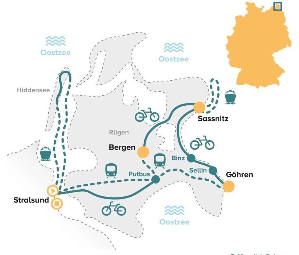 Fietsroute Hiddensee en Rügen met kinderen