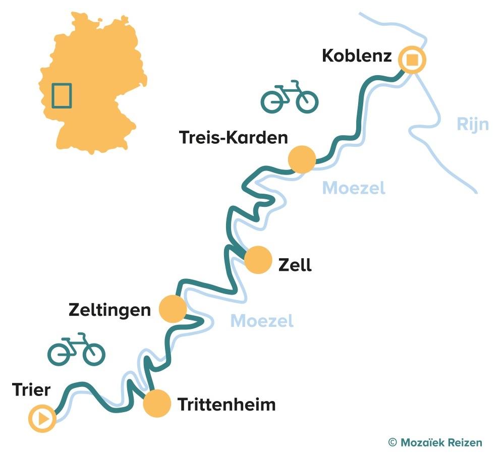 Fietsroute langs de Moezel - Mosel Radweg
