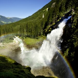 Krimmler Wasserfälle - fietsen met kinderen in de Alpen - Tauern