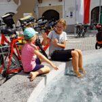 Fietsen met kinderen van Linz naar Wenen