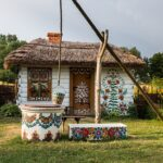 Zalipie Polen beschilderde huizen