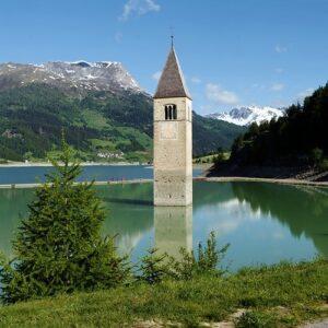 Reschenpass - Reschensee - Fietsen Zuid-Tirol