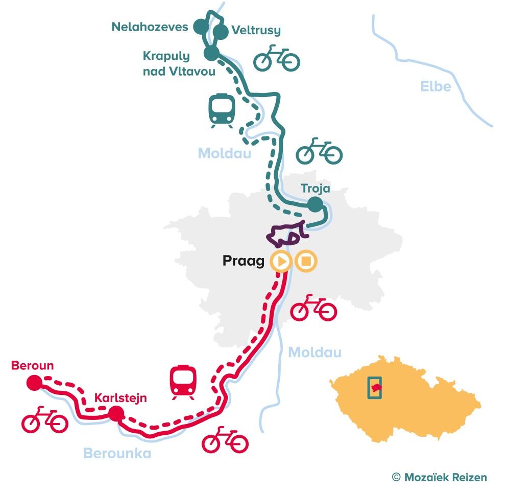 Praag City Bike Tour - fietsen rondom Praag