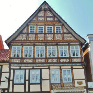 Vakwerkhuis langs de Weser