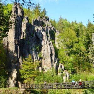Bohemen rotsen - Fietsen Tsjechië