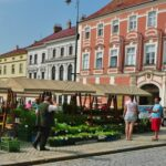 markt - fietsen Zuid-Moravië - Tsjechië