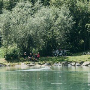 rivier de drau pauze fietsen langs de drau met kinderen