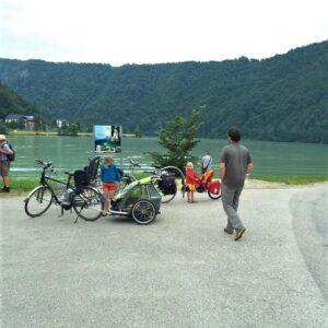 Pauze Donauradweg met kinderen