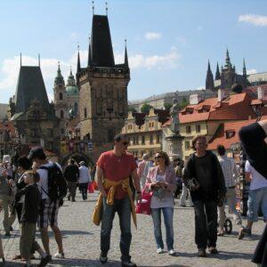 Karelsbrug; fiesvakantie Praag - Dresden