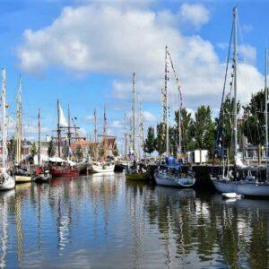 Harlingen haven Friese Elfstedentocht Fietsen