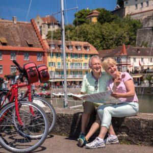 Meersburg haven - fietsvakantie rond de Bodensee