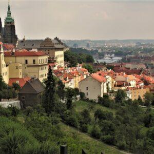 Praag kasteel en Moldau