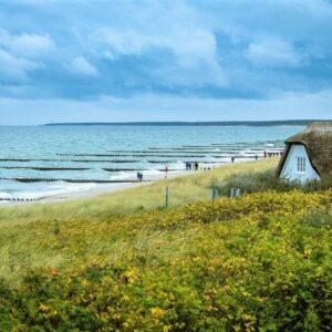 Ahrenshoop fietsen langs de Oostzee
