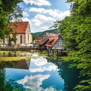 Blaubeuren Blautopf Fietsen Donau Duitsland