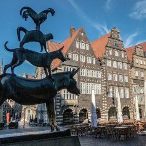 Bremen - Stadtmuzikanten - Fietsvakantie met kinderen Duitsland