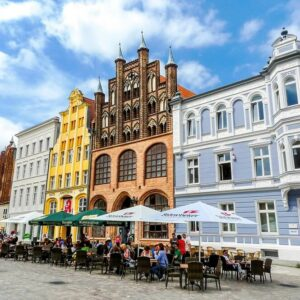 Stralsund centrum - fietsen langs de Oostzee