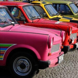 Kleurrijke trabants