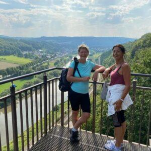 Uitzicht over de Weser - fietsen langs de Weser