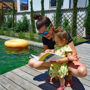Zwembad - Fietsen van Merano naar het Gardameer