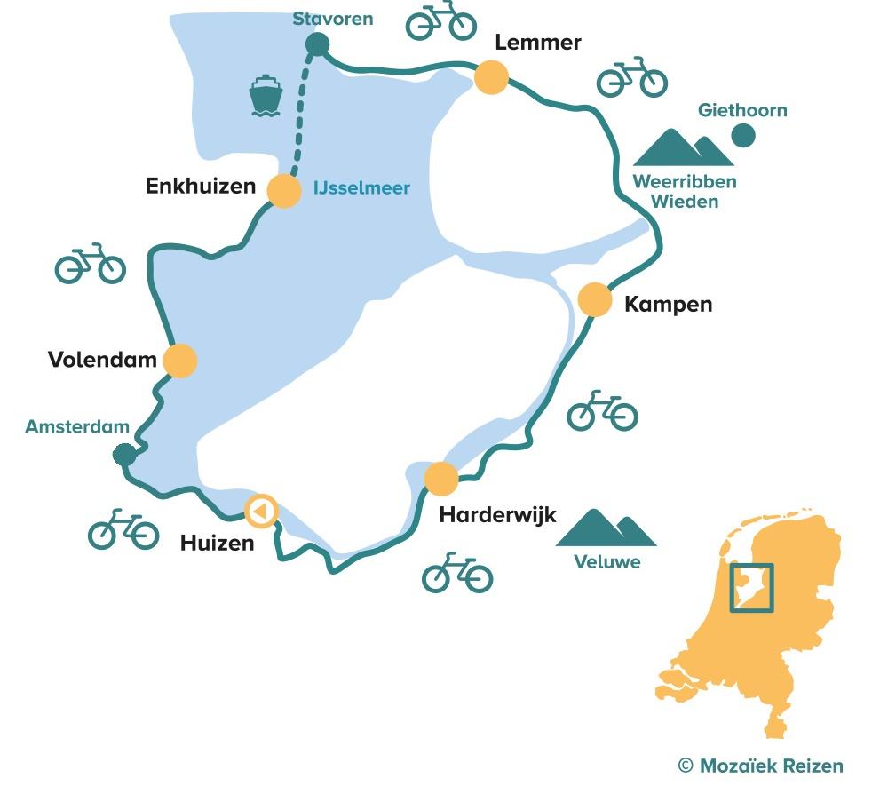 ietsroute IJsselmeer - Zuiderzee