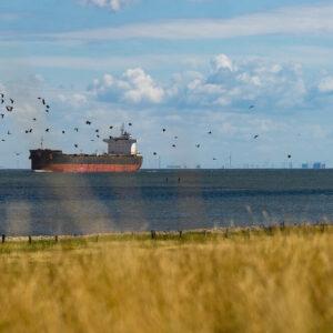 Schip nabij Cuxhaven