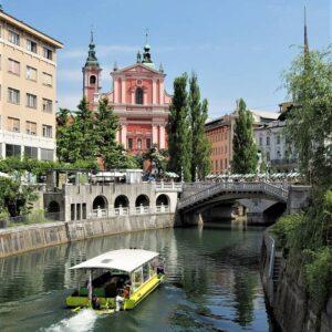 Ljubljana centrum fietsvakantie Slovenië