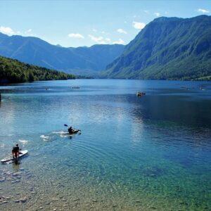 Bohinj meer Fietsen door Slovenië Lake Bled Piran